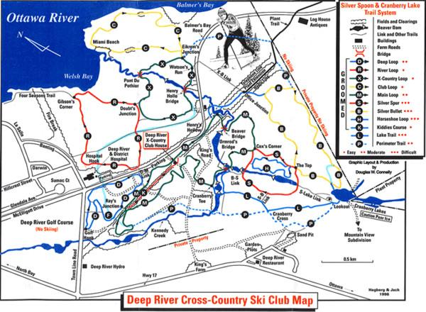 CrossCountry Skiing Guide XC Ski – Ottawa Tourist Attractions Map