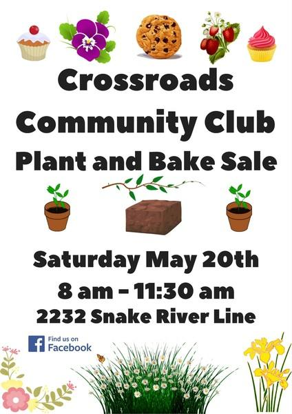 Crossroads Community Club Plant and Bake Sale