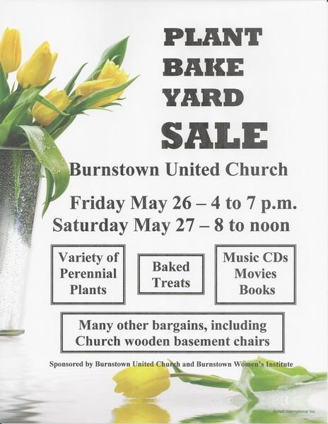 Plant, Bake and Yard Sale