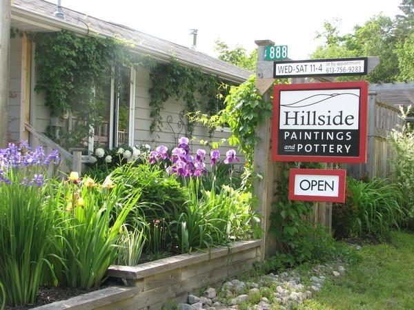 Hillside Paintings and Pottery