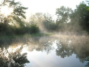 Morning mist   Near the mouth of the Bonnechere.