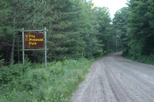 Foy Provincial Park - Admin Entrance   Better to enter just up the road.